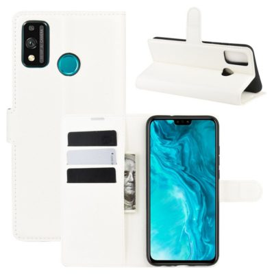 Huawei Honor 9X Lite Kotelo PU-Nahka Valkoinen