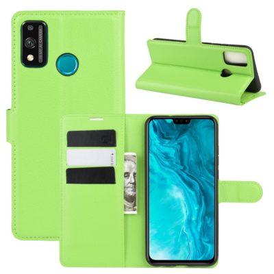 Huawei Honor 9X Lite Kotelo PU-Nahka Vihreä
