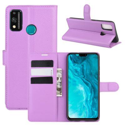 Huawei Honor 9X Lite Kotelo PU-Nahka Violetti