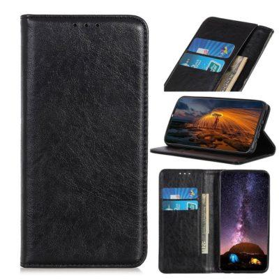 Samsung Galaxy A21s Kannellinen Kotelo Musta