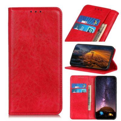Samsung Galaxy A21s Kannellinen Kotelo Punainen