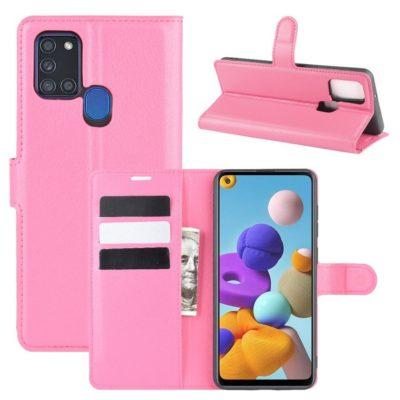 Samsung Galaxy A21s Kotelo PU-Nahka Pinkki