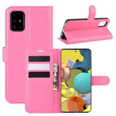 Samsung Galaxy A51 5G Kotelo PU-Nahka Pinkki