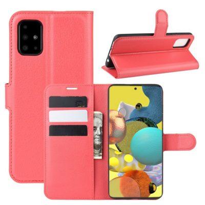 Samsung Galaxy A51 5G Kotelo PU-Nahka Punainen