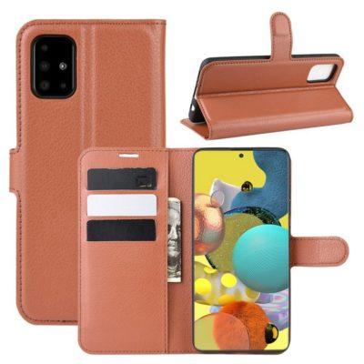 Samsung Galaxy A51 5G Kotelo PU-Nahka Ruskea