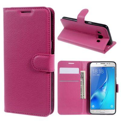 Samsung Galaxy J5 (2016) Kotelo Pinkki Lompakko