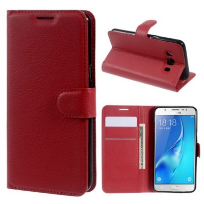 Samsung Galaxy J5 (2016) Kotelo Punainen Lompakko