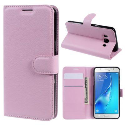 Samsung Galaxy J5 (2016) Kotelo Vaaleanpunainen Lompakko
