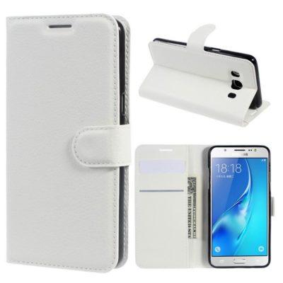 Samsung Galaxy J5 (2016) Kotelo Valkoinen Lompakko