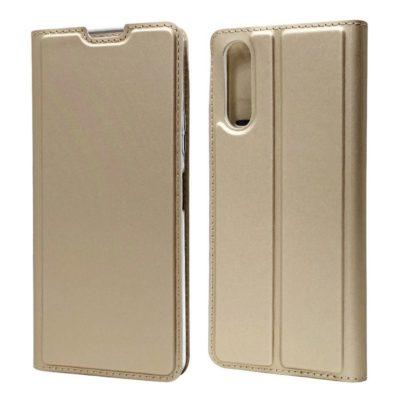 Sony Xperia 10 II Kannellinen Kotelo Kulta