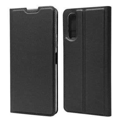 Sony Xperia 10 II Kannellinen Kotelo Musta