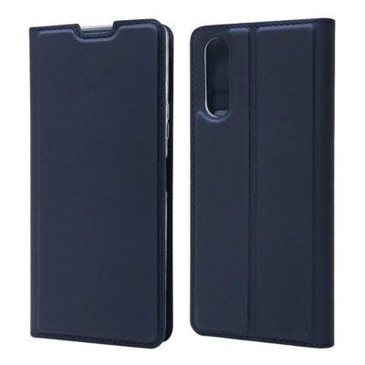 Sony Xperia 10 II Kannellinen Kotelo Tummansininen