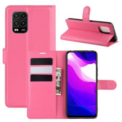 Xiaomi Mi 10 Lite 5G Kotelo PU-Nahka Pinkki