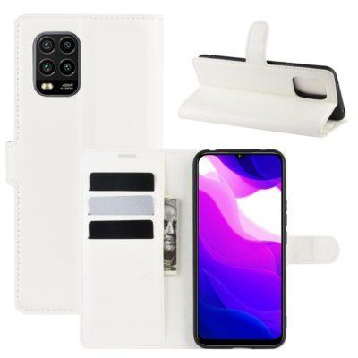 Xiaomi Mi 10 Lite 5G Kotelo PU-Nahka Valkoinen