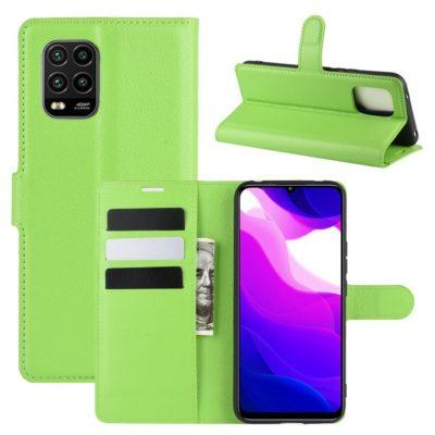 Xiaomi Mi 10 Lite 5G Kotelo PU-Nahka Vihreä