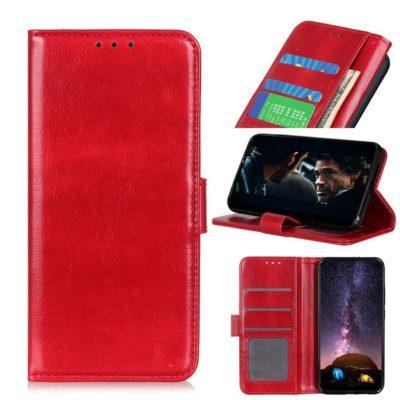 Huawei Y5p Suojakotelo Punainen Lompakko