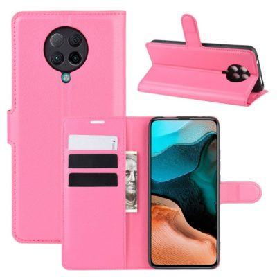 Xiaomi Poco F2 Pro Kotelo Pinkki Lompakko
