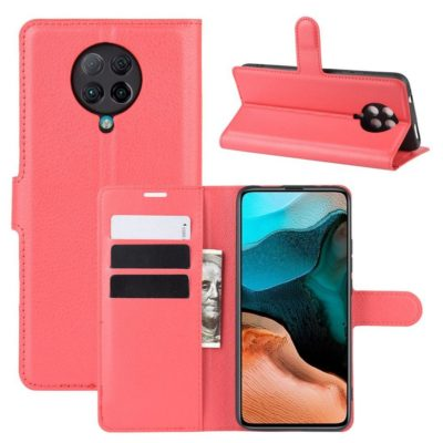 Xiaomi Poco F2 Pro Kotelo Punainen Lompakko