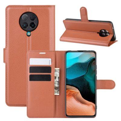 Xiaomi Poco F2 Pro Kotelo Ruskea Lompakko