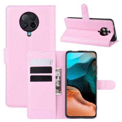 Xiaomi Poco F2 Pro Kotelo Vaaleanpunainen Lompakko