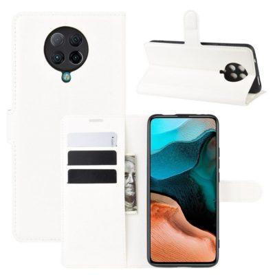 Xiaomi Poco F2 Pro Kotelo Valkoinen Lompakko