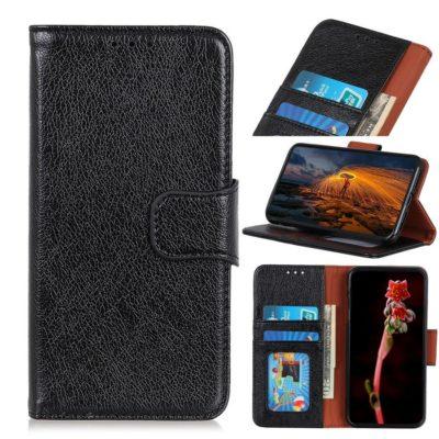 Xiaomi Redmi Note 9 Kotelo Musta Nahka
