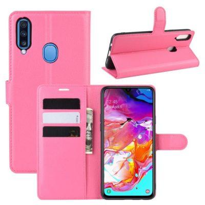 Samsung Galaxy A20s Kotelo PU-Nahka Pinkki