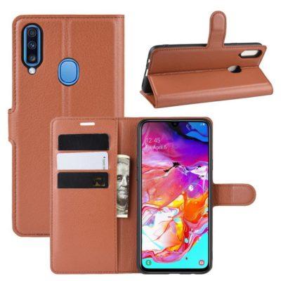 Samsung Galaxy A20s Kotelo PU-Nahka Ruskea