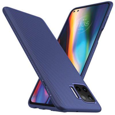 Motorola Moto G 5G Plus Suojakuori Silikoni Sininen