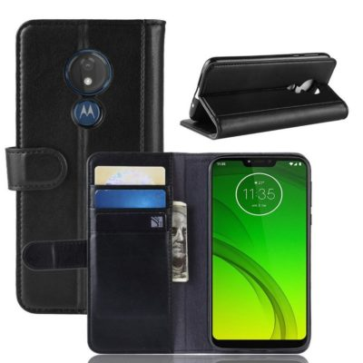 Motorola Moto G7 Power Nahkakotelo Musta