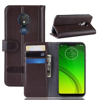 Motorola Moto G7 Power Nahkakotelo Ruskea