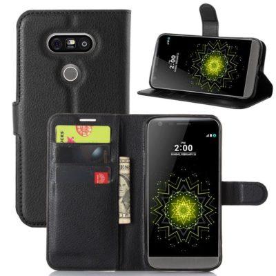 LG G5 H850 Suojakotelo Musta Lompakko