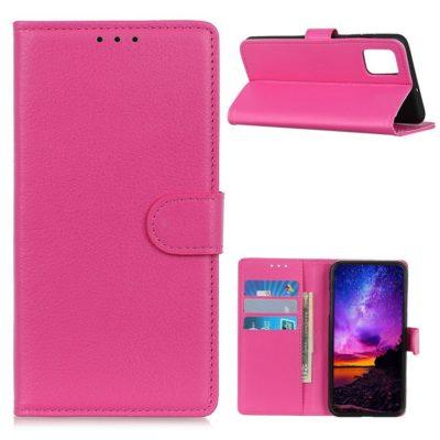 Motorola Moto G9 Plus Kotelo Pinkki Lompakko