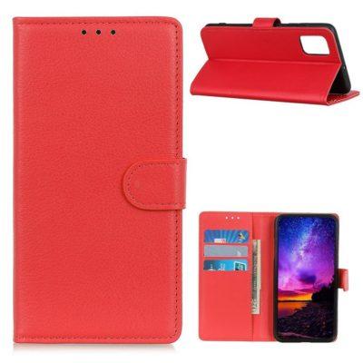 Motorola Moto G9 Plus Kotelo Punainen Lompakko