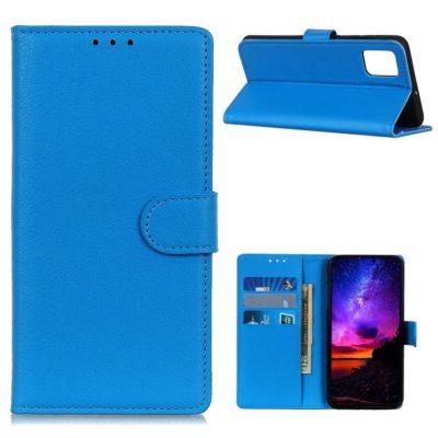 Motorola Moto G9 Plus Kotelo Sininen Lompakko