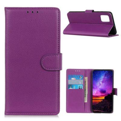 Motorola Moto G9 Plus Kotelo Violetti Lompakko