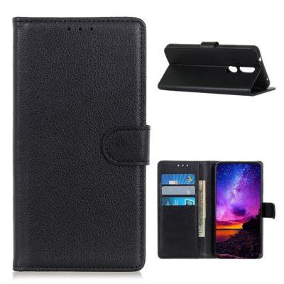 Nokia 2.4 Suojakotelo Musta Lompakko