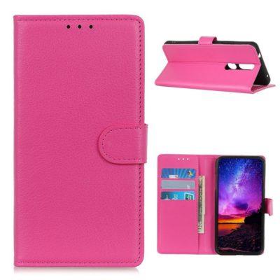 Nokia 2.4 Suojakotelo Pinkki Lompakko