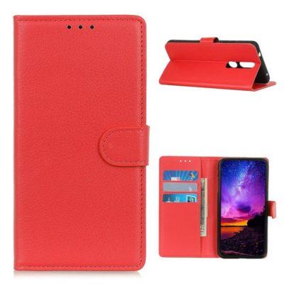 Nokia 2.4 Suojakotelo Punainen Lompakko