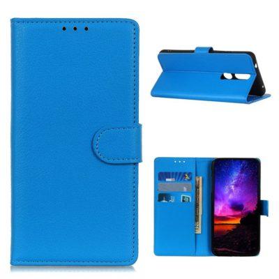 Nokia 2.4 Suojakotelo Sininen Lompakko