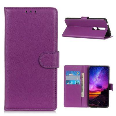 Nokia 2.4 Suojakotelo Violetti Lompakko