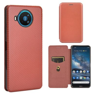 Nokia 8.3 5G Suojakotelo Hiilikuitu Ruskea