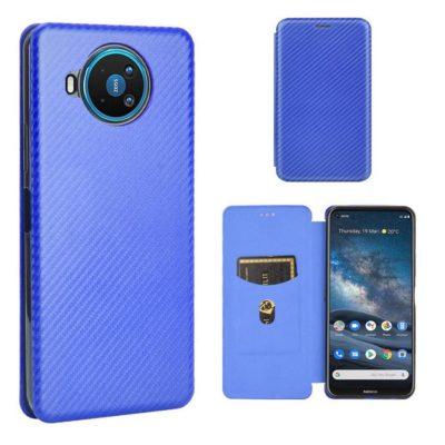 Nokia 8.3 5G Suojakotelo Hiilikuitu Sininen