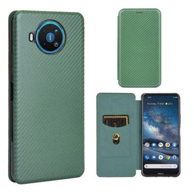 Nokia 8.3 5G Suojakotelo Hiilikuitu Vihreä