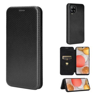 Samsung Galaxy A42 5G Kotelo Hiilikuitu Musta