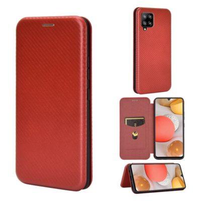 Samsung Galaxy A42 5G Kotelo Hiilikuitu Punainen