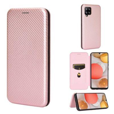 Samsung Galaxy A42 5G Kotelo Hiilikuitu Ruusukulta