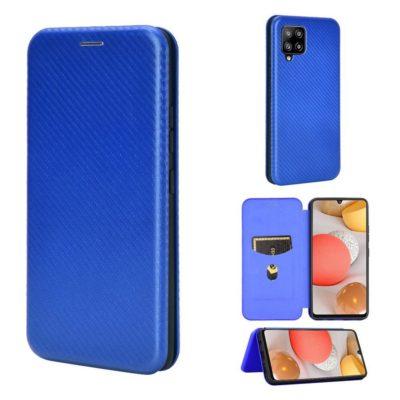 Samsung Galaxy A42 5G Kotelo Hiilikuitu Sininen