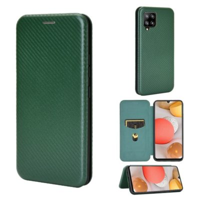 Samsung Galaxy A42 5G Kotelo Hiilikuitu Vihreä