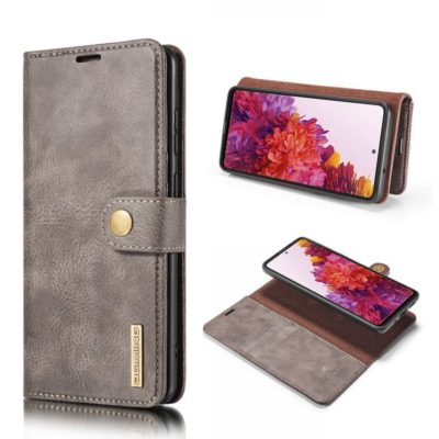 Samsung Galaxy S20 FE Nahkakotelo DG.MING Harmaa